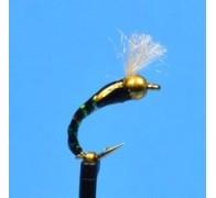 3D Glass Epoxy Bead Head Buzzer Black - 1