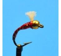 3d Glass Epoxy Bead Head Buzzer Red - 1