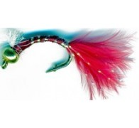 3D Glass Epoxy Bead Head Nymph Bloodworm Marabou - 1