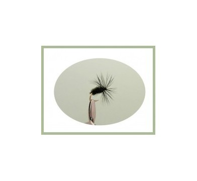 Black and Peacock Dry Fly - 1