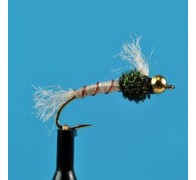 Bead Head Chironomid Pupa Red Ribbed